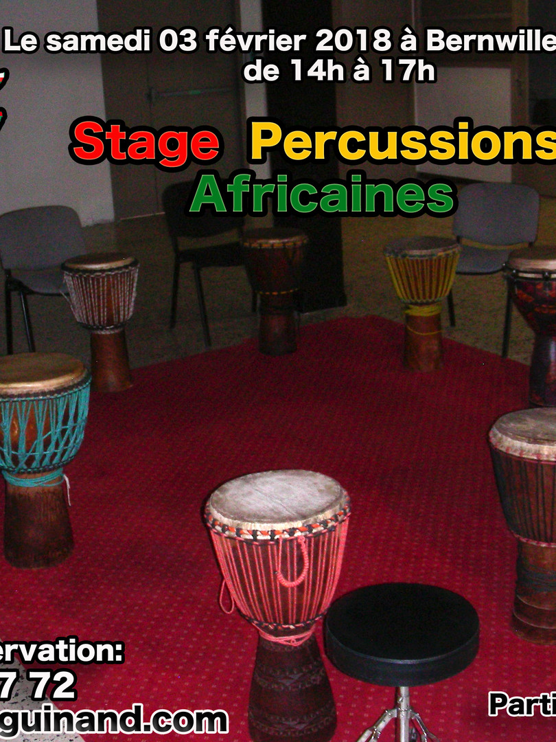 Stage de percussions Africaines