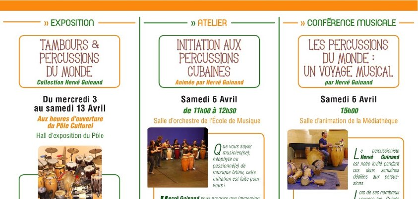Programme semaine percussions