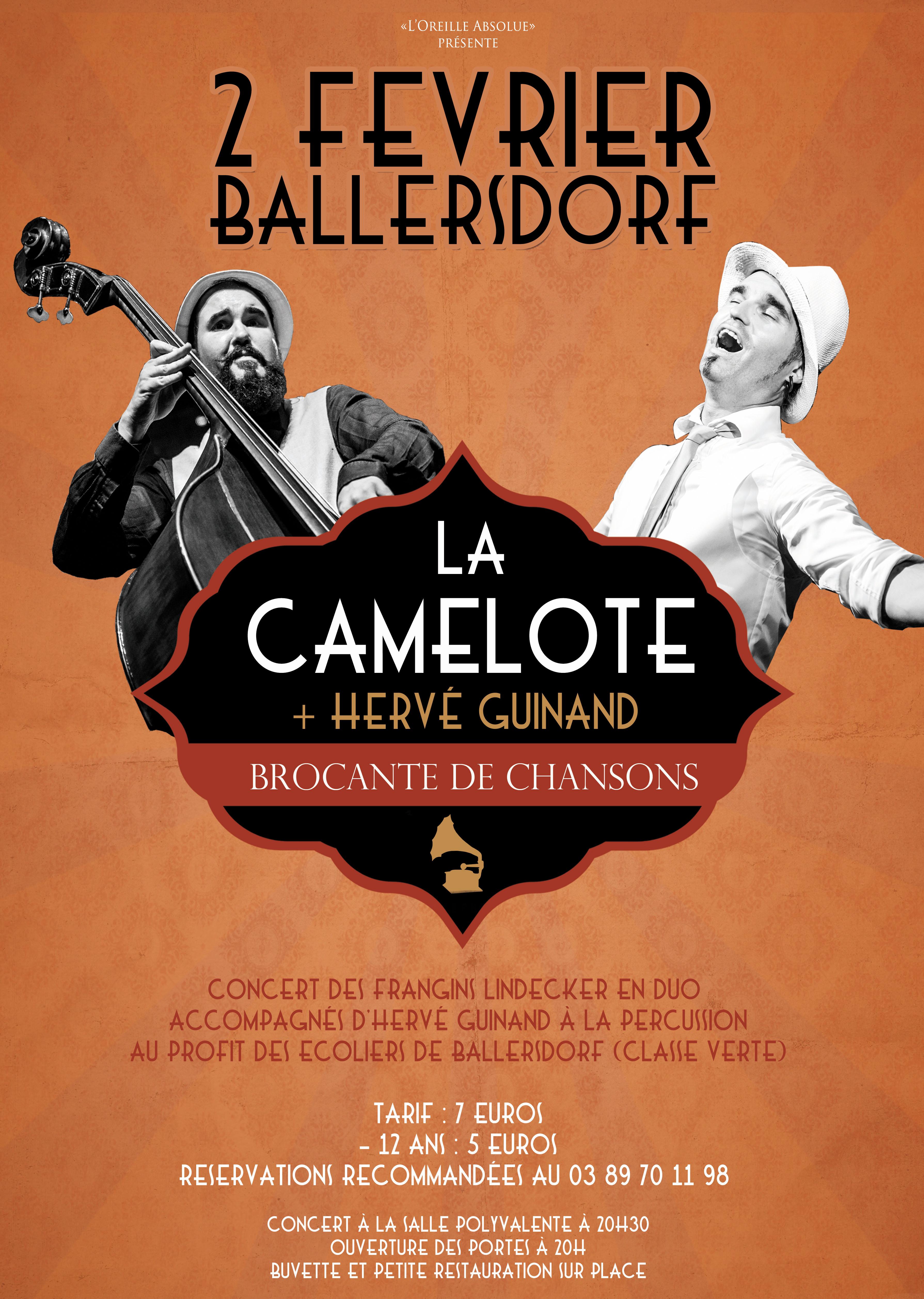Concert avec La camelote à Ballersdorf (Haut Rhin)