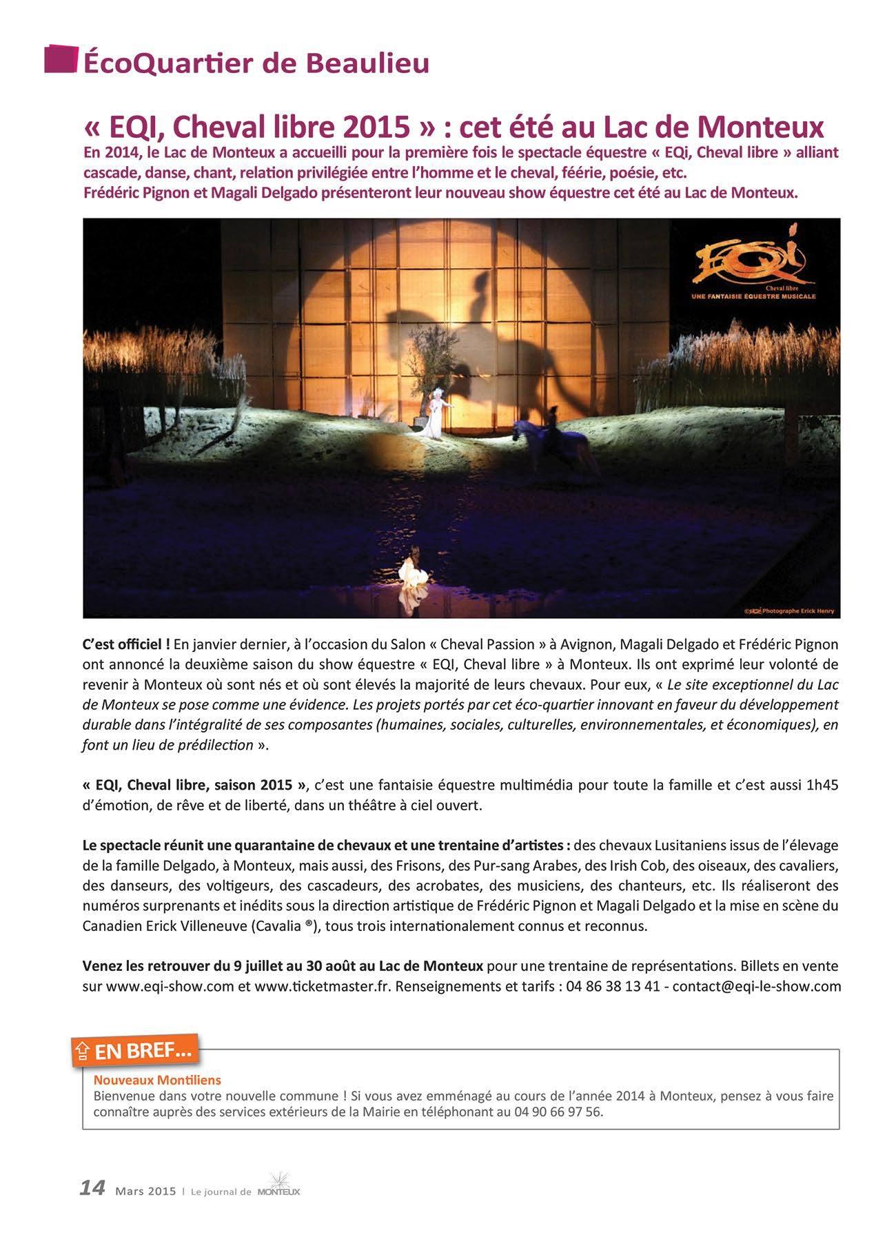 EQI - spectacle équestre 2015