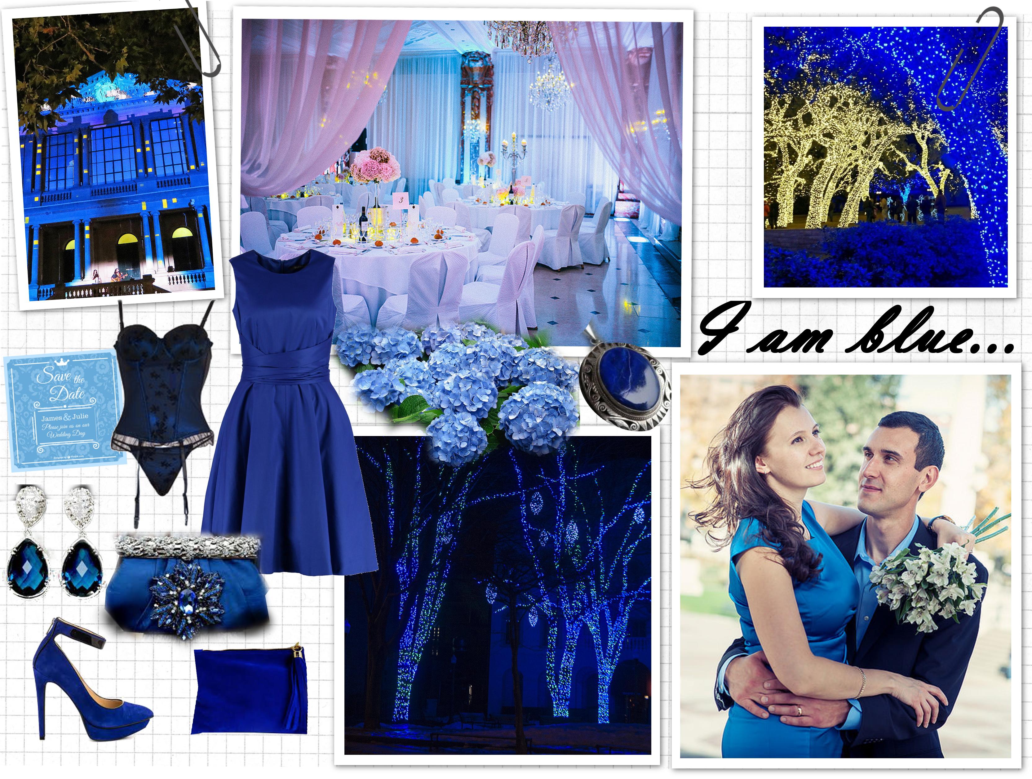 Hochzeit in blau