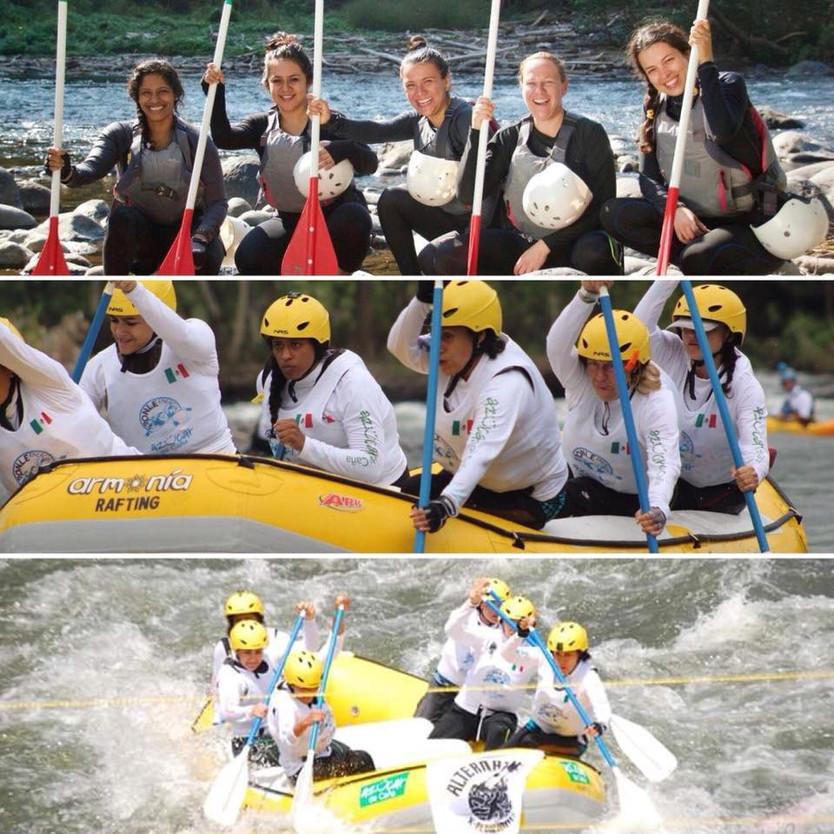 Las chicas se van al mundial de aguas bravas en Neuquén, Argentina