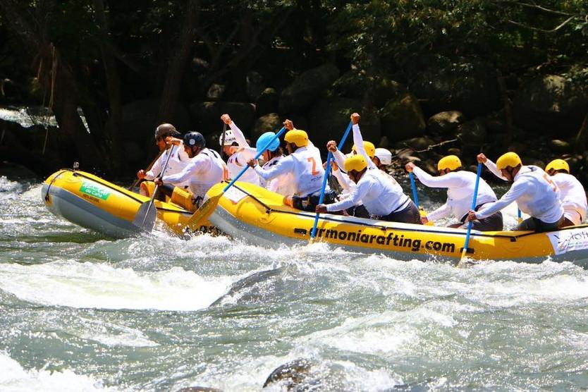 Campeonato nacional de rafting en Jalcomulco