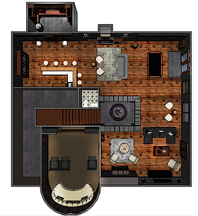 Rendered Floor Plan