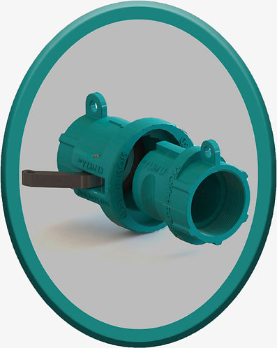 Safety Coupling for Non Hazardous Mixtures - Teal Oval