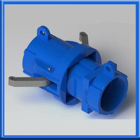 Safety Coupling for Bases (High pH) - Blue Square