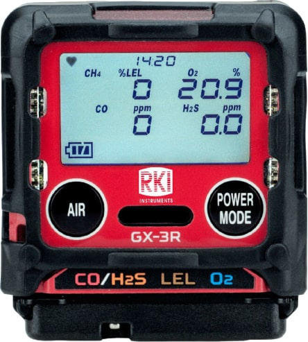 GX-3R 4 Gas Confined Space Monitor