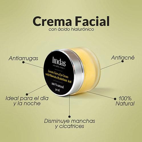 Crema Facial con Ácido Hialurónico
