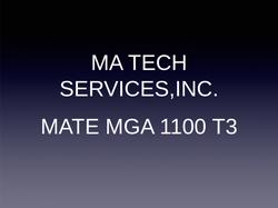 MA Tech MATE MGA 1100 T3