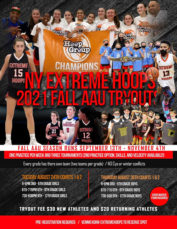 ny extreme hoops 2021 fall aau tryouts