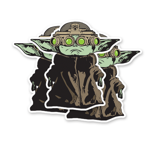 Baby Yoda NVG - Waterproof Vinyl Sticker - x3