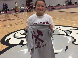 Undefeated in strong varsity division at Fordham Womens basketball team camp!