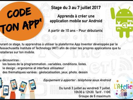 Stage Code ton app'