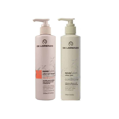 Novafusion Coral Peach Shampoo and Conditioner Duo