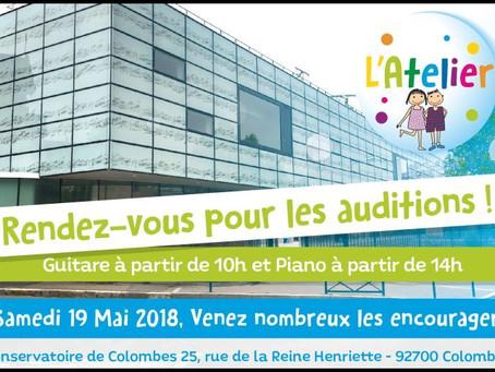 Les Auditions au Conservatoire de Colombes