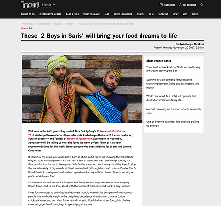 Screenshot Time Out Mag, 2 boys in saris