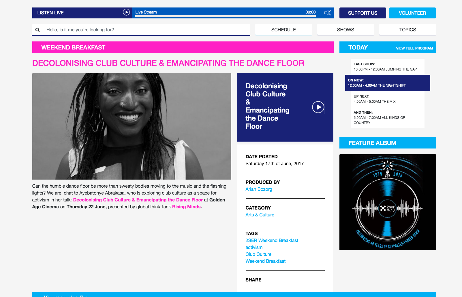 Decolonising Club Culture Interview