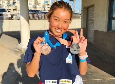 野中美波 サーフィン世界ジュニア選手権で準優勝!