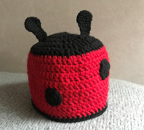 Ladybird hat/crochet hat/newborn baby hat