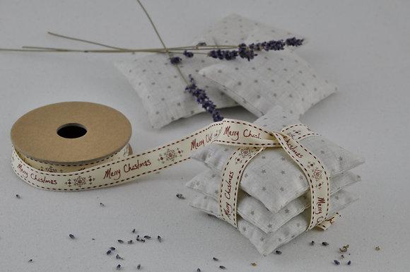 Lavender bags/sachets/star fabric/better sleep/handmade/Christmas present/cotton