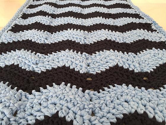 Rug/crochet/floor runner/handmade/home decor/'Chevron'