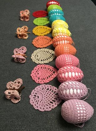 Crochet Easter decoration/Easter egg/crochet butterfly/Hanging Easter decor