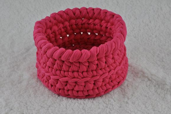 Basket/crochet/handmade/storage/organisation/nursery decor/cotton/pink