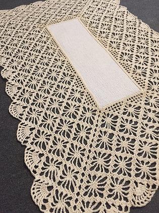 Crochet doily/handmade/home decor/table runner/cross stitch/'Lillian'