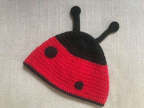 Ladybird hat/crochet hat/child hat/100%whool and cotton