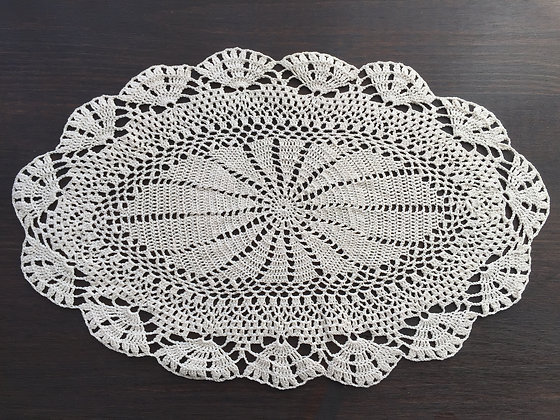 Crochet doily/mandala/dreamcatcher/table runner/handmade/'Orange Blossom'