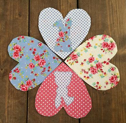 Lavender hearts/sachets/bags/bunny/dots/liberty print