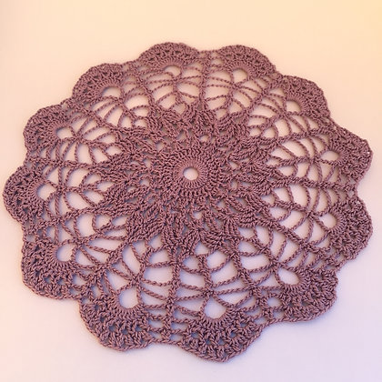Crochet doily/mandala/dreamcatcher/table runner/handmade/'LILAC'