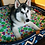 Thumbnail: Large size dog basket/navy blue