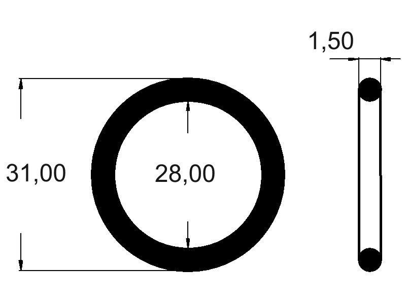 O-Ring 6x1,5 mm Schnurstärke 1,5mm NBR 70 Shore PE 10 Dichtring ORinge 0Ring