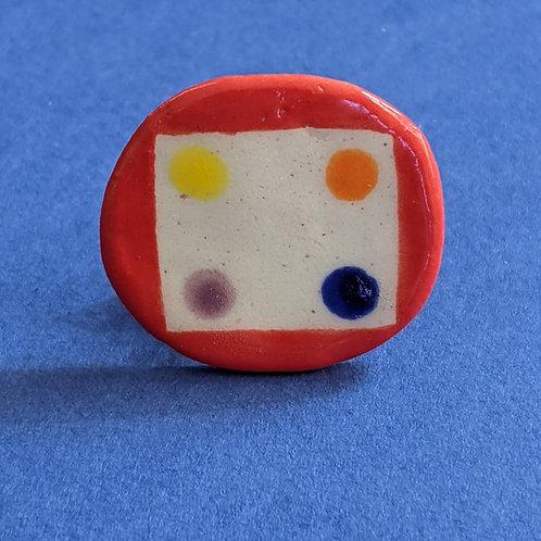 Four Corners Lapel Pin