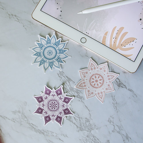 Mandala Stickers (Single or Pack)