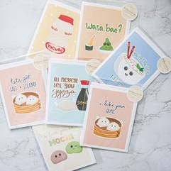 Asian Food Pun Greeting Cards