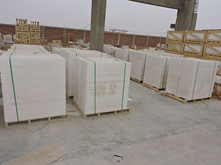 Egyptian marble tiles packed inside wooden pallets | Marmo Design for marble and granite Egypt