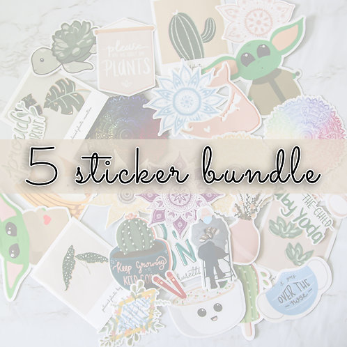 5 Sticker Bundle