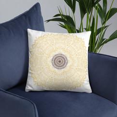 Sunflower Mandala Pillow
