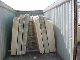 Egyptian marble Slabs packed in A-Frame | Marmo Design for marble and granite