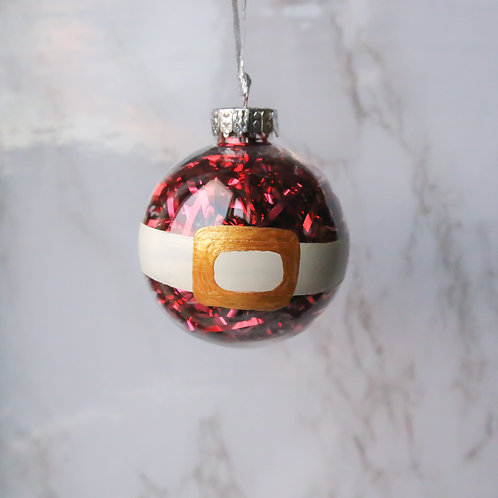 Santa Belly Tree Ornament