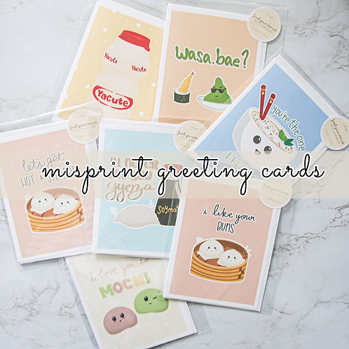Misprint Greeting Card (Food Pun Series, Single Card Only)