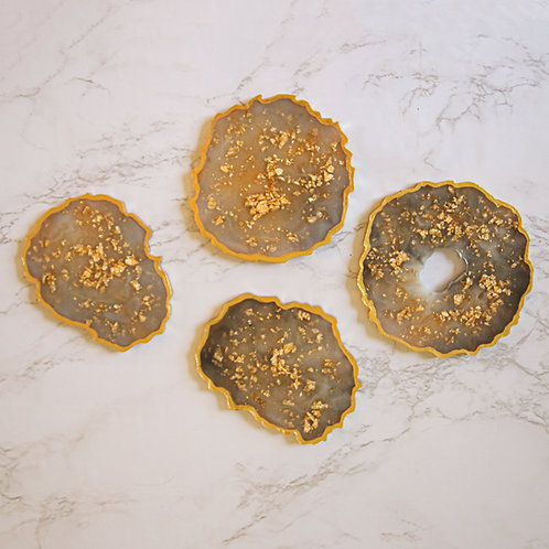 Geode Resin Coaster Set of 4