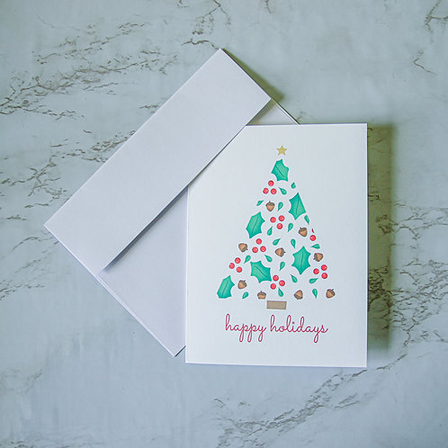 "4.5"" x 6"" Christmas Tree Holiday Card (Single)"