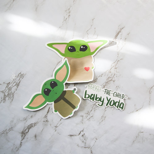Baby Yoda/The Child/Grogu Sticker (Glossy)