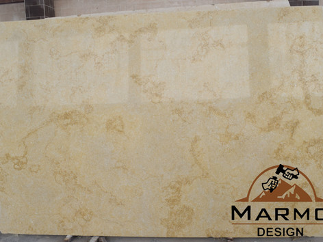 Egyptian Marble Sunny Menia treated with resin and polished slabs