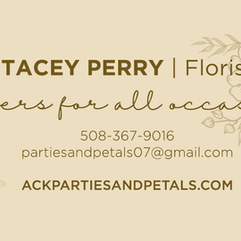 Parties & Petals Business Card