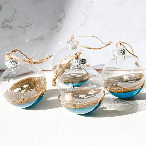 Beach Side Ornaments (single or set of 4)