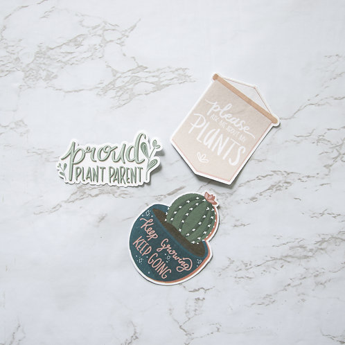 Plant Sayings Sticker Pack (Glossy)